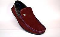 Обувь больших размеров мужская мокасины замшевые бордовые летние Rosso Avangard Guerin BS Bordeaux Suede, фото 1