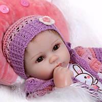 Кукла Эвелин, реборн, 42см, мягконабивная, в подарочной упаковке