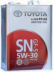 Оригинальное японское моторное масло TOYOTA CASTLE MOTOR OIL SN/CF 5W-30 (4L) 08880-10705, фото 1
