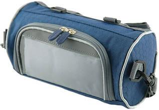 Сумка-велобагажник с прозрачным карманом для смартфона из нейлона Traum 7019-15, синий