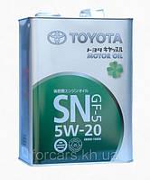 Оригинальное японское моторное масло TOYOTA CASTLE MOTOR OIL SN 5W-20 4L 08880-10605
