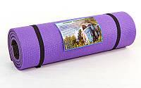 Каремат туристический Пенополиэтилен двухсл. 12мм UR TY-3748 (р-р 1,8х0,6мх1,2см, голубой-черн.)