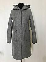 Молодежное женское серое пальто