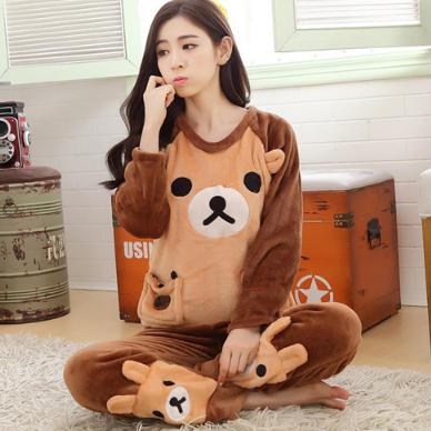 Женские теплые пижамы.Модель 2042