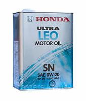 Оригинальное моторное японское масло в железной банке HONDA ULTRA LEO 0W-20 SN (4L) 08217-99974