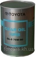 Трансмиссионное масло для мостов TOYOTA GEAR OIL SUPER 75W90 GL-5 (1L)08885-02106