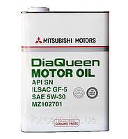 Оригинальное моторное масло в  жестяной банке MITSUBISHI DIAQUEEN MOTOR OIL SN 5W-30MZ102701