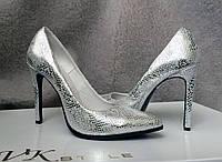 Женские туфли на шпильке кожа/замша разные цвета AV0017