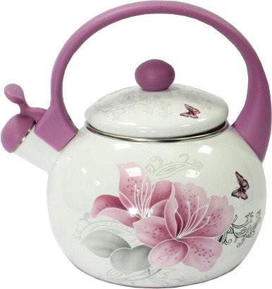 Чайник эмалированный 2,2 л Розовый цветок E10-120846