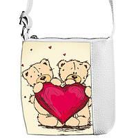 Белая детская сумочка для девочки Принцесса с Мишкой Тедди