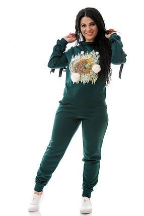 Костюм зеленый из трикотажа женский, фото 2