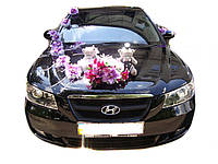 """Украшение на машину """"Невеста + Мишки Фиолетовый"""""""