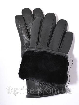 Мужские зимние перчатки из оленьей кожи на цигейке, фото 2