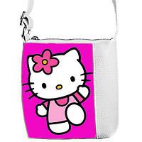 Белая детская сумочка для девочки Little princess с принтом Хелло Китти