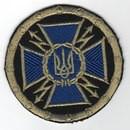 Крест сухопутных войск синий  на липучке