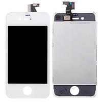 Дисплей для Apple iPhone 4S с рамкой и тачскрином, белый