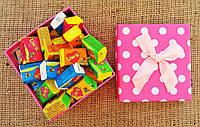 Жвачки Love is 5 вкусов микс жевательная резинка лове ис подарочный набор 50 штук
