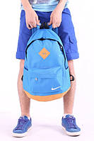 Городской рюкзак Nike голубой с бежевым