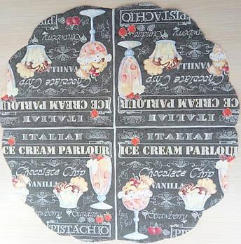 """Салфетка декупажная 33x33 см 22 """"ice cream"""""""