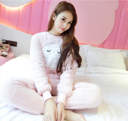 Женские теплые пижамы.Модель 2044
