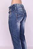 Джинсы женские зауженные синие Miss Lala, фото 4