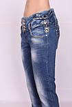 Джинсы женские зауженные синие Miss Lala, фото 5
