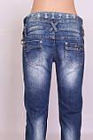 Джинсы женские зауженные синие Miss Lala, фото 7