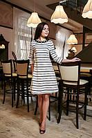 Нежное женское платье в полосочку
