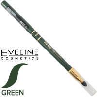 Eveline - Max Precision Карандаш 2х-стор. механический с растуш. (спонж) Тон зеленый