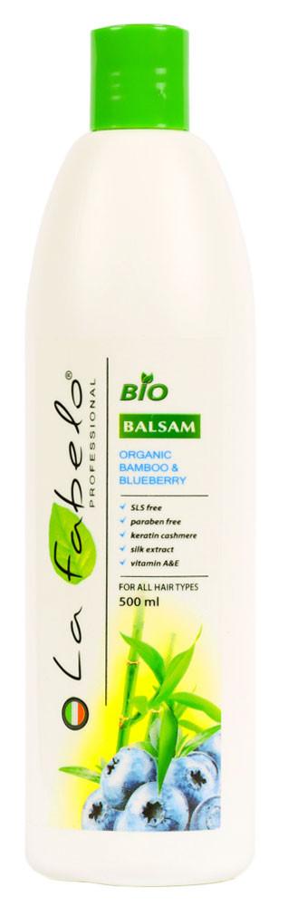 Био-бальзам La Fabelo без SLS и парабенов для всех типов волос с экстрактом бамбука и черники 500мл