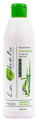 Шампунь La Fabelo Professional для сухих и окрашенных волос с экстрактом бамбука и пшеничной плацентой 300мл, фото 2