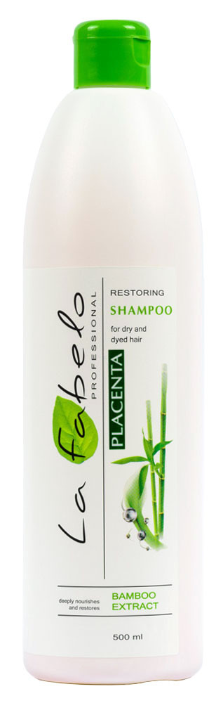 Шампунь La Fabelo Professional для сухих и окрашенных волос с экстрактом бамбука и пшеничной плацентой 500мл