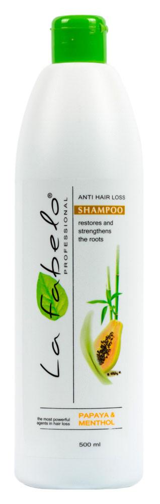 Шампунь La Fabelo Professional против выпадения волос с экстрактом морских водорослей, папаей, розмарином 500мл