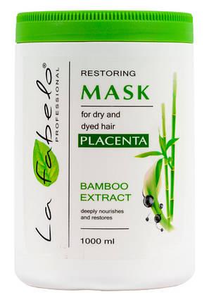 Маска La Fabelo Professional для сухих и окрашенных волос с экстрактом бамбука и пшеничной плацентой 1000мл, фото 2