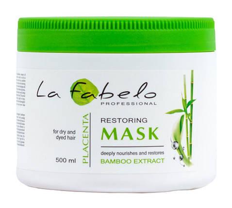 Маска La Fabelo Professional для сухих и окрашенных волос с экстрактом бамбука и пшеничной плацентой 500мл, фото 2