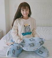 Женские теплые пижамы.Модель 2045, фото 3