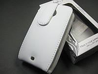 Кожаный чехол DoorMoon HTC A320e Desire C (белый)