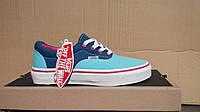 Кеды Vans женские супер стильные. (ванс  кеды) синий с голубым