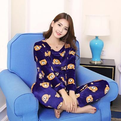 Женские теплые пижамы.Модель 2046