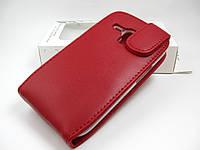 Кожаный чехол Doormoon Samsung Galaxy S3 mini I8190 (красный)