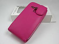 Кожаный чехол Doormoon Samsung Galaxy S3 mini I8190 (розовый)
