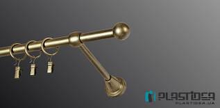 """Карниз одинарный 2,4м античное золото """"болонь"""""""