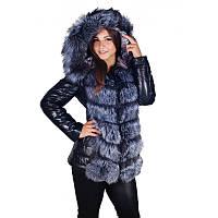 Куртка трансформер из меха чернобурки