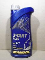 Масло для двухтактный двигателей Mannol 2-Takt Plus полусинтетика 1л (красное)