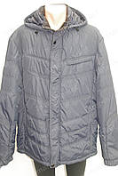 Мужская зимняя куртка с капюшоном очень теплая черная батал