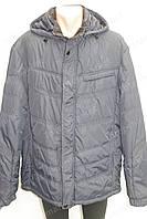 Мужская зимняя куртка с капюшоном очень теплая черная батал, фото 1