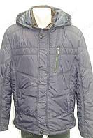 Мужская зимняя куртка с капюшоном очень теплая темно-синяя