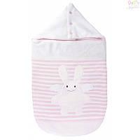 Спальный мешок Trousselier с капюшоном для новорожденных,  розовый, 0-6 месяцев, 80 см
