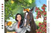 """Картина бисером """"Девушка с конем"""""""