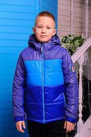 Куртка  демисезонная  для мальчика Бадди (электрик-голубой-джинс)